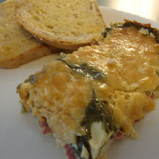 Turkey Bacon, Spinach and Gruyere Quiche
