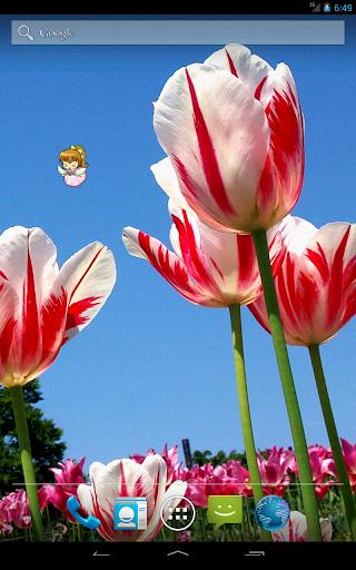 【免費個人化App】Spring Fairy Live Wallpaper-APP點子