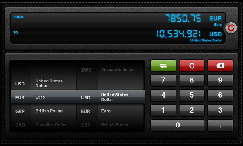 Currency Converter for Tablets- screenshot