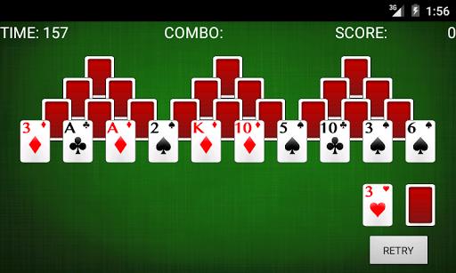 塔接龍紙牌遊戲