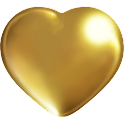 Golden hearts Livewallpaper icon