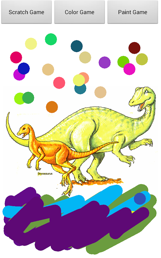 Dinosaur Scratch for Kids Free- screenshot
