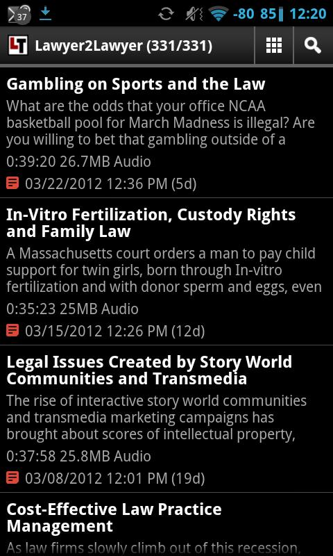 Legal Talk Network Podcasts- screenshot