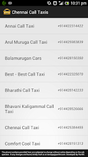 Chennai Call Taxis - screenshot thumbnail