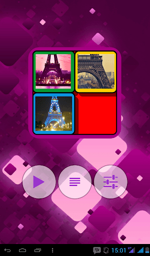 Eiffel Tower Sliding Puzzle