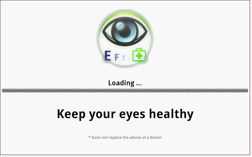 Eye exam screenshot for Android