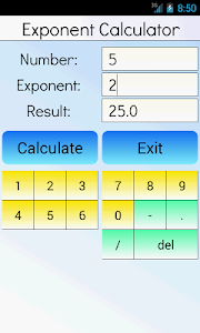 Exponent Calculator screenshot 0