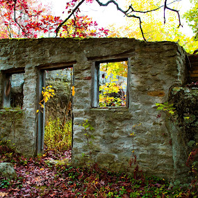 Kunes Camp by Isaac Golding - Buildings & Architecture Decaying & Abandoned ( pennsylvania, hiking, abandoned, quehanna wild area, kunes camp,  )