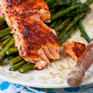 Spicy Honey-Glazed Salmon.