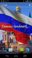 Screenshot of 3D Russia Flag Live Wallpaper+