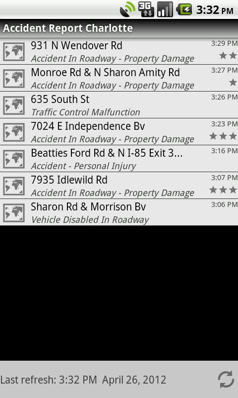Accident Report Charlotte- screenshot