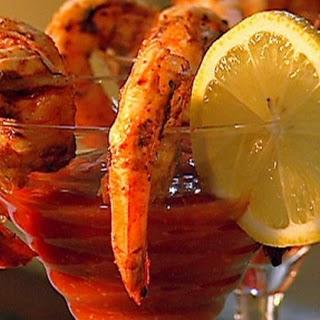 BBQ prawns with cocktail sauce