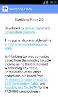 Screenshot of Sweldong Pinoy