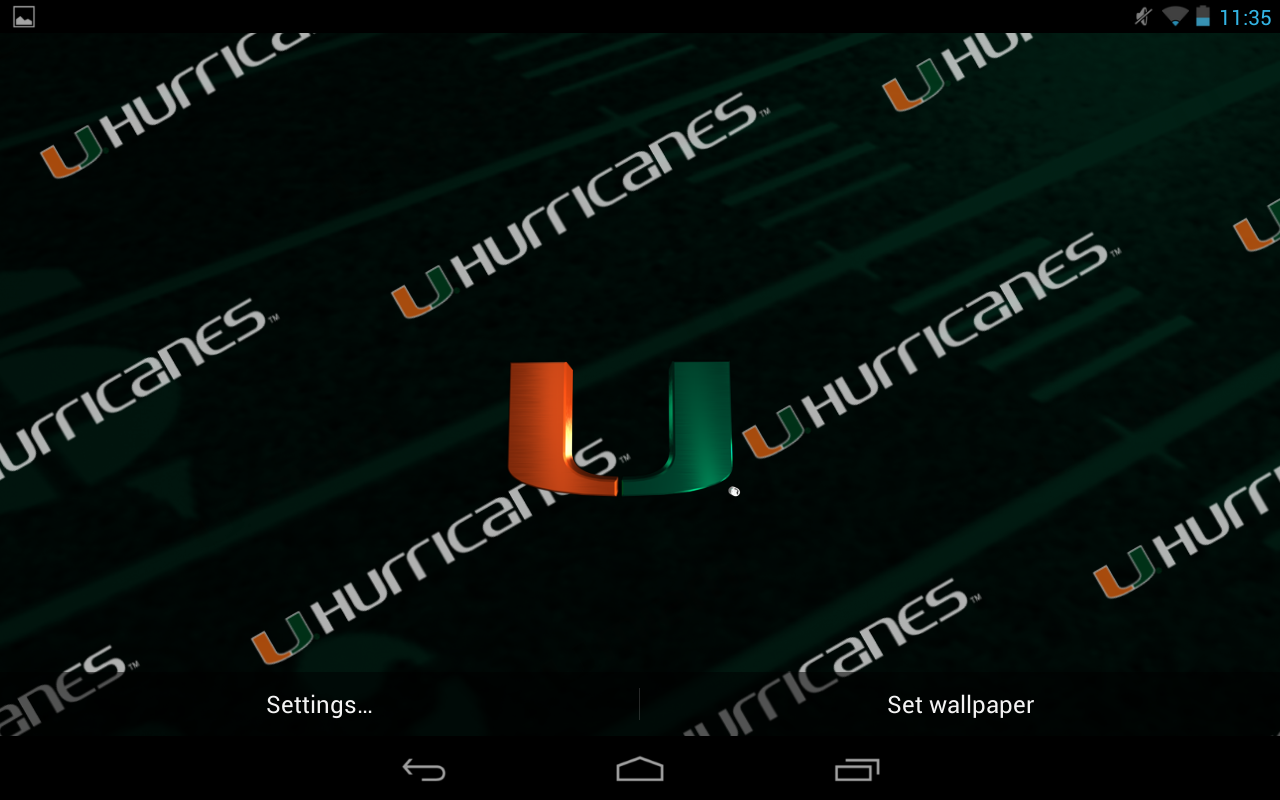 Miami canes live wallpaper hd android apps on google play miami canes live wallpaper hd screenshot voltagebd Choice Image
