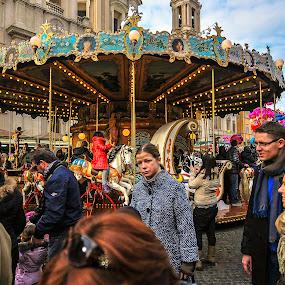 Merry-Go-Round by Kean Low - City,  Street & Park  Amusement Parks ( merry-go-round )