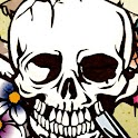 a1-flowered SKULL logo