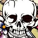 a1-flowered SKULL logo