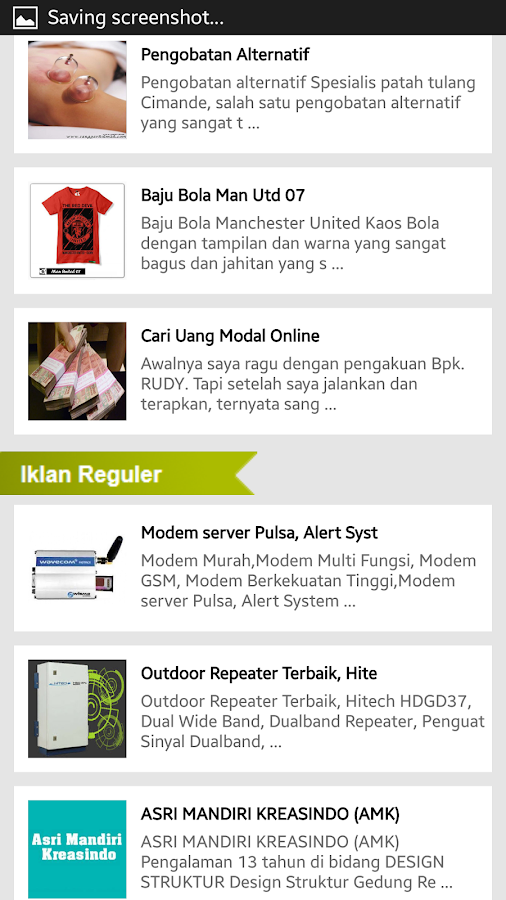 Iklan Baris- screenshot