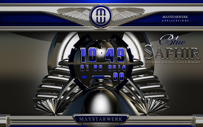 Digi Clock Widget Blue Saphir APK screenshot thumbnail 5