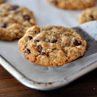 Whole Wheat Coconut Oil Chocolate Chip Oatmeal Cookies.