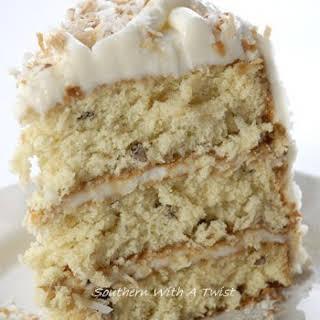 Italian Cream Cheese Cake.