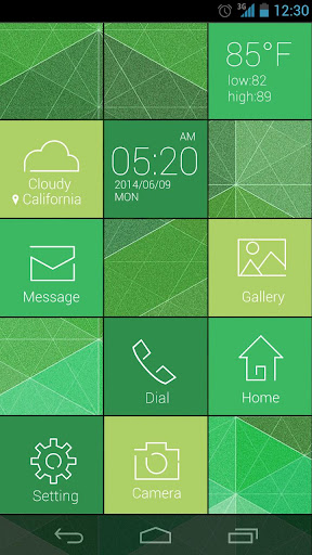 Cube GO Launcher Live Theme for PC