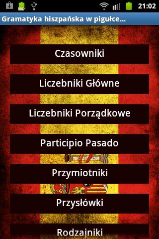 Hiszpański Gramatyka- screenshot