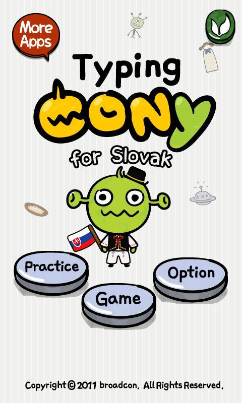 [B]TypingCONy for Slovak- screenshot