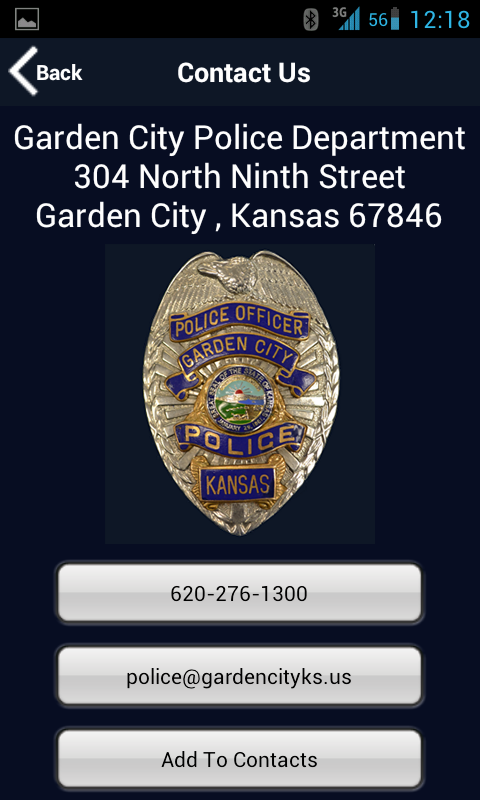 Garden City Police Department- screenshot