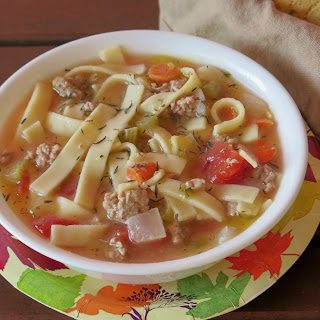 Ground Turkey & Noodle Soup