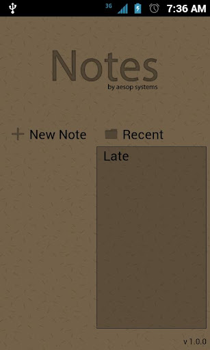Notes - Text Editor