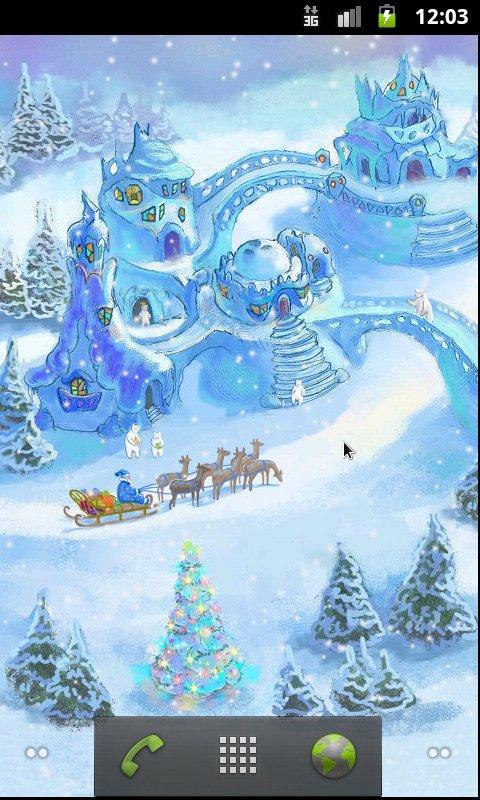 Snow Village Live Wallpaper screenshot #1
