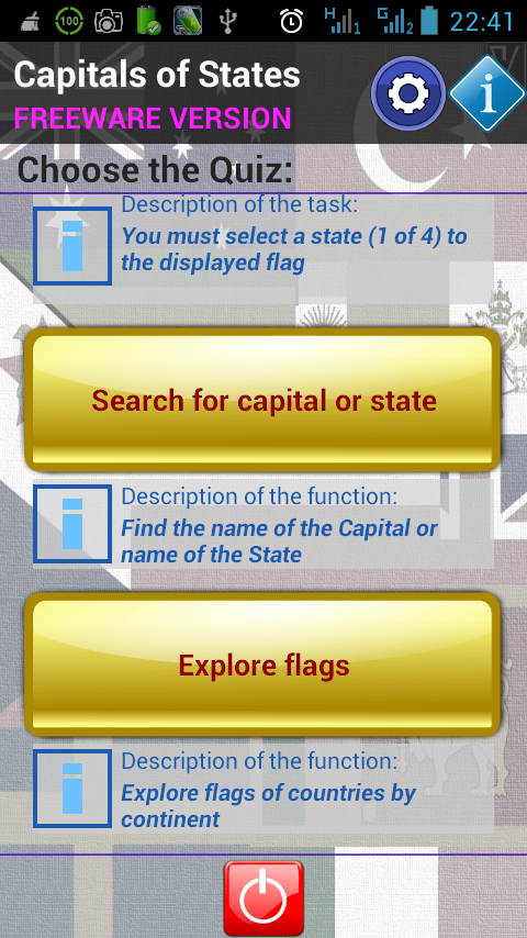 Capitals of States- screenshot