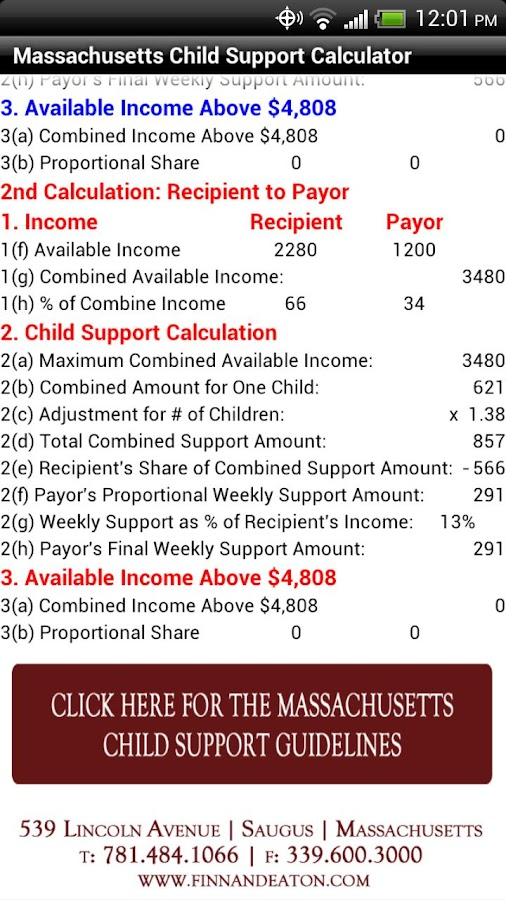 MA Child Support Calculator Android Apps on Google Play – Nj Child Support Guidelines Worksheet