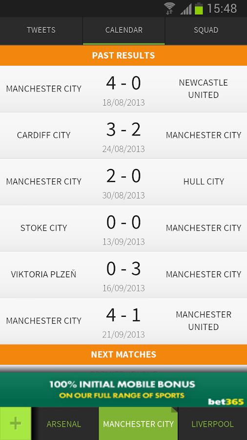 FootyTwits Twitter Live Scores - screenshot