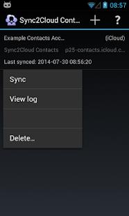 Contacts CardDAV Sync - screenshot thumbnail