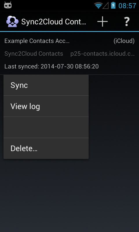 Contacts CardDAV Sync- screenshot