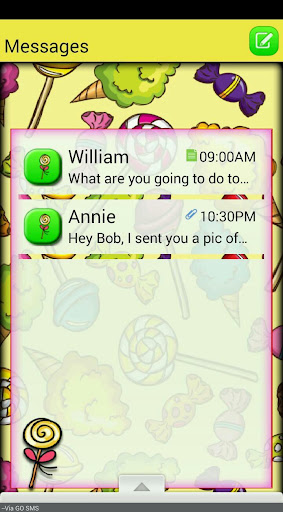 SweetShop GO SMS THEME
