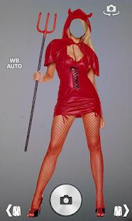 Girl Angel Devil photo montage screenshot