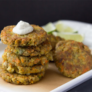 Curry Chia Burgers with Dill Cashew Cream.