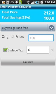 Smart Discount Calculator - screenshot thumbnail