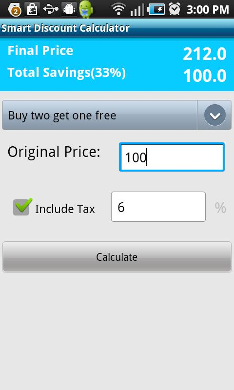 Smart Discount Calculator - screenshot