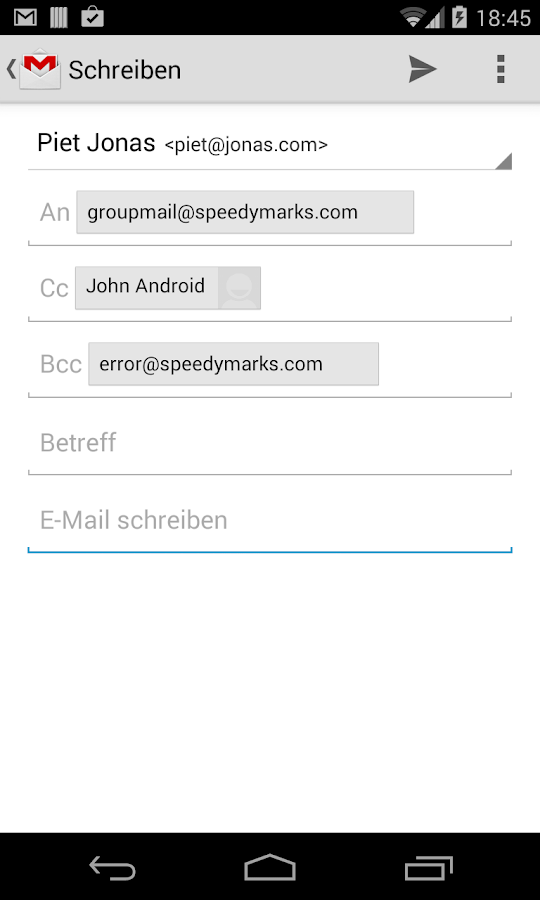 Group Mail Free- screenshot