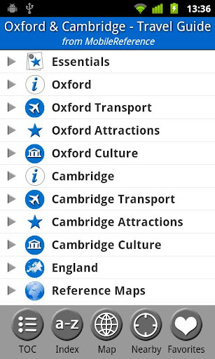 Oxford Cambridge Guide Map