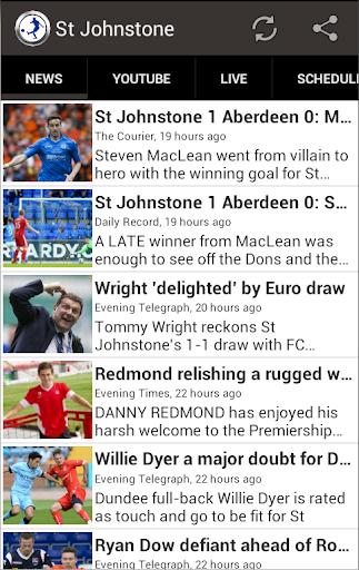 St Johnstone FC Fan App