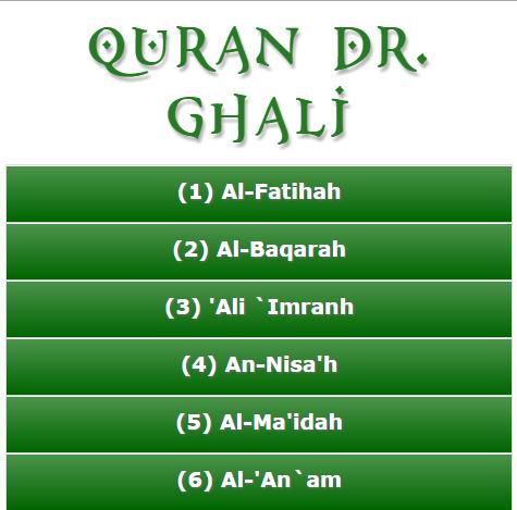Quran Dr Ghali