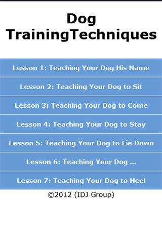 Dog Training Techniques