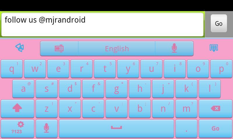 Cotton Candy GO Keyboard Theme- screenshot