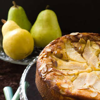 Gluten Free Pear Almond Cake.