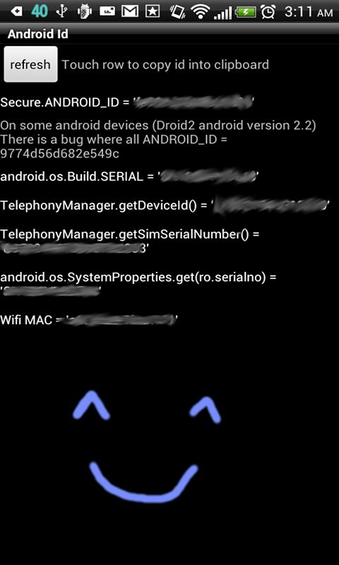 Android Id Info - screenshot